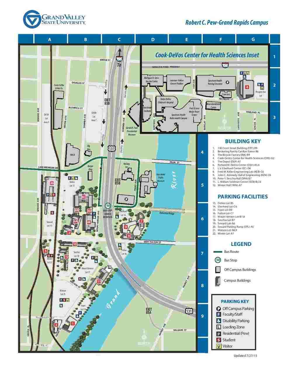 Gvsu Pew Campus Map Directions and Parking   School of Engineering   Grand Valley